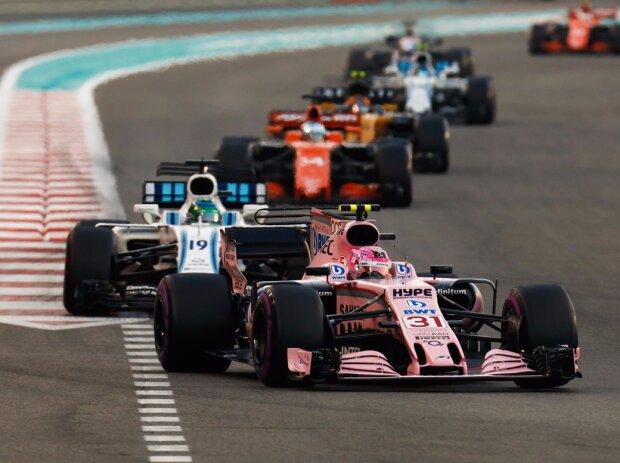 Esteban Ocon, Felipe Massa, Fernando Alonso, Carlos Sainz