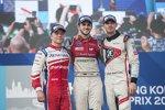 Felix Rosenqvist (Mahindra), Daniel Abt (Audi) und Edoardo Mortara (Venturi)