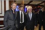 Nico Rosberg, Fernando Alonso & Jacques Villeneuve