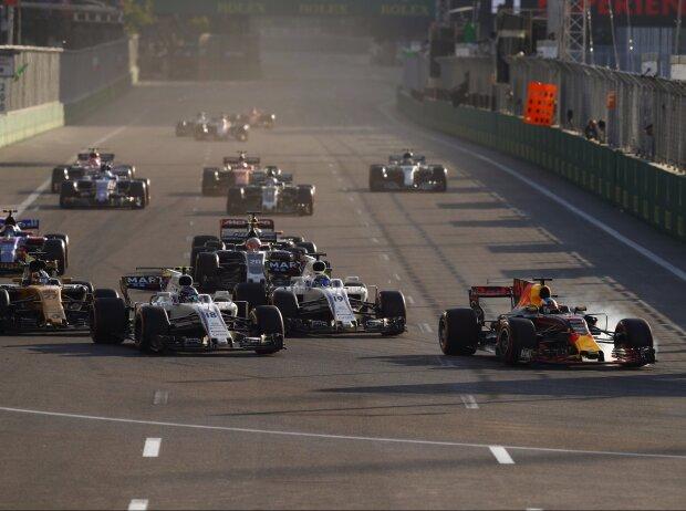 Daniel Ricciardo, Lance Stroll, Felipe Massa