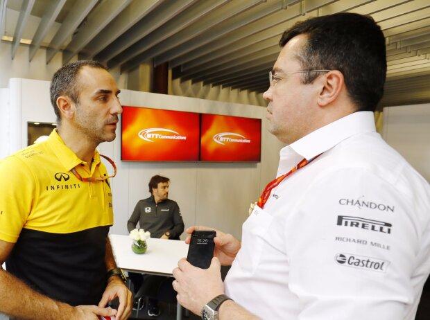 Cyril Abiteboul, Fernando Alonso, Eric Boullier