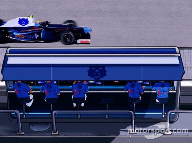 Screenshot Motorsport Master: Treffen Sie Entscheidungen an der Boxenmauer und managen Sie den Funkverkehr
