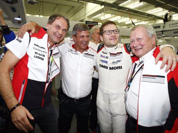 Blume, Enzinger, Seidl und Wolfgang Porsche