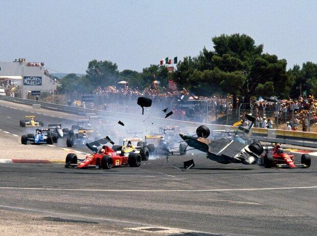 Startunfall 1989 in Le Castellet