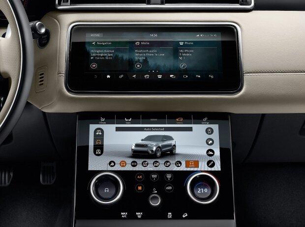 Mittelkonsole des Range Rover Velar 2018