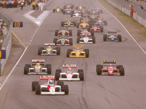 Alain Prost, Gerhard Berger, Nigel Mansell