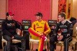 Helio Castroneves, Ryan Hunter-Reay und Josef Newgarden