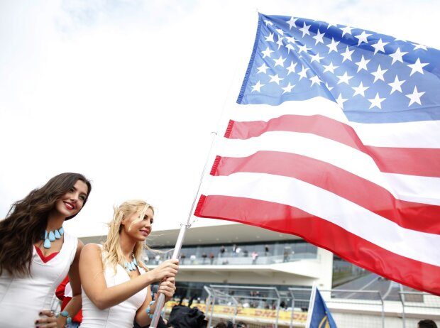 USA, Flagge, Grid Girls
