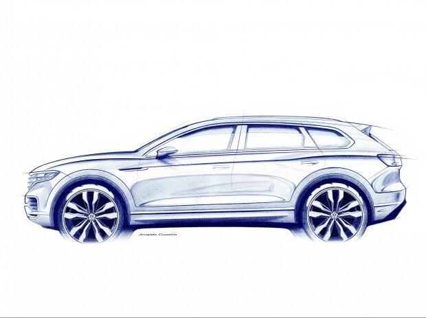 Skizze des Volkswagen Touareg III