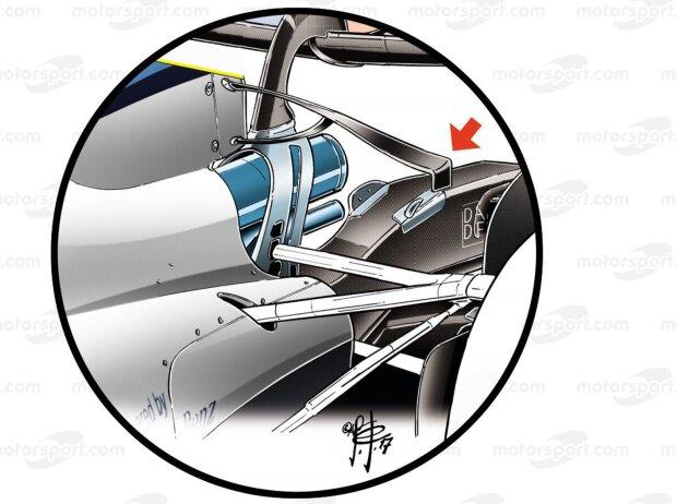 Williams FW40: T-Flügel unten