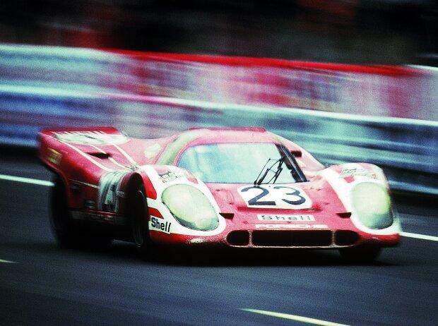 Le-Mans-Sieger 1970: Hans Herrmann und Richard Attwood mit dem Porsche 917 Kurzheck