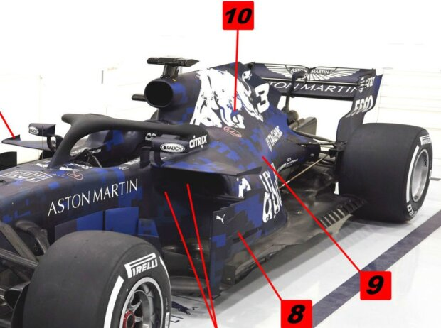 Red Bull, RB14, Heck