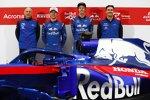 Franz Tost, Pierre Gasly (Toro Rosso), Brendon Hartley (Toro Rosso) und James Key