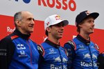 Franz Tost, Pierre Gasly (Toro Rosso) und Brendon Hartley (Toro Rosso)