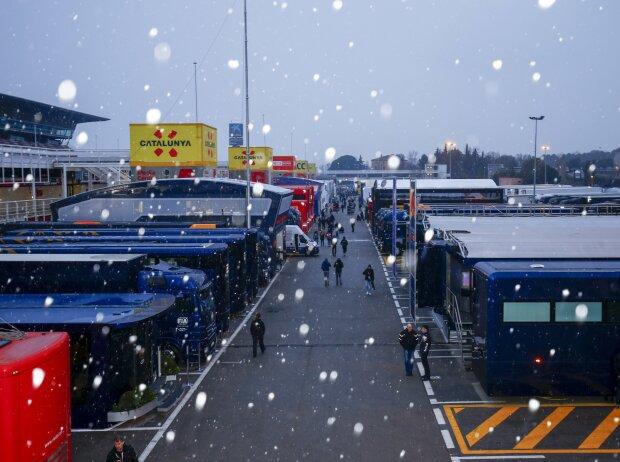 Schnee in Barcelona