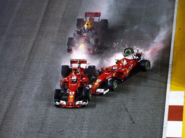 Kimi Räikkönen, Max Verstappen, Sebastian Vettel
