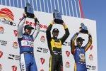 Sebastien Bourdais (Coyne), Graham Rahal (Rahal) und Alexander Rossi (Andretti)