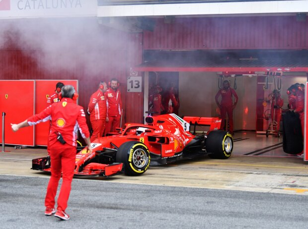 Sebastian Vettel, Rauch, Qualm