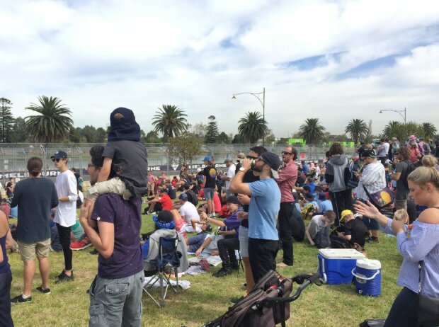 Fans in Melbourne