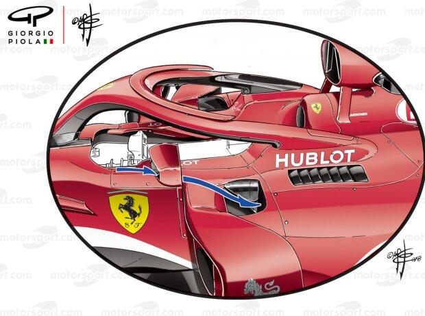 Rückspiegel Ferrari SF71H (Giorgio Piola)