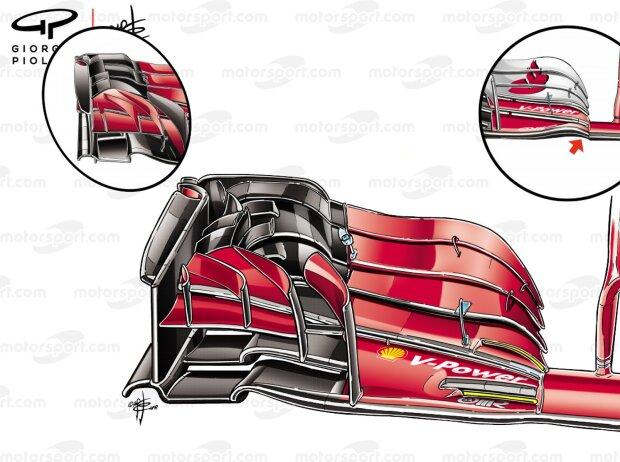 Frontflügel Ferrari SF71H (Giorgio Piola)