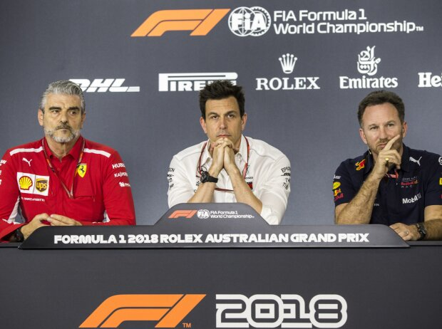 Maurizio Arrivabene, Toto Wolff, Christian Horner