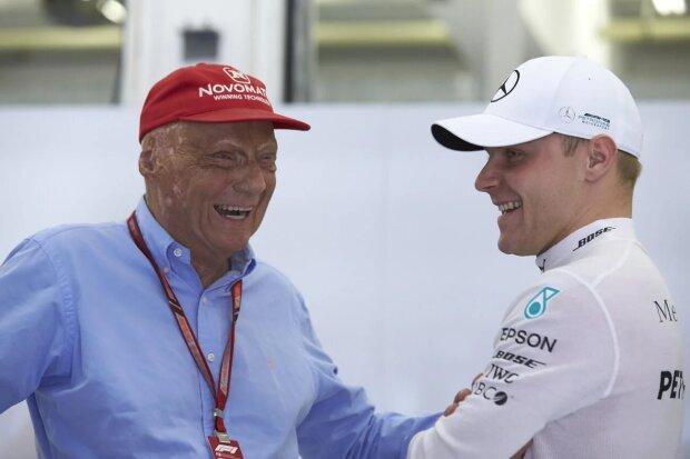 Niki Lauda Valtteri Bottas  ~Niki Lauda und Valtteri Bottas (Mercedes) ~