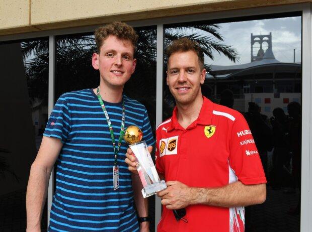 Dominik Sharaf und Sebastian Vettel
