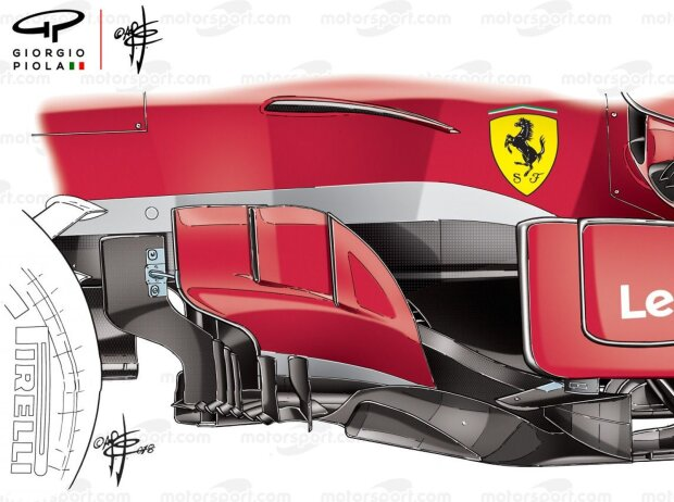 Ferrari SF71H: Bargeboards