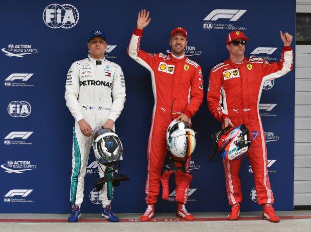 Valtteri Bottas, Sebastian Vettel, Kimi Räikkönen