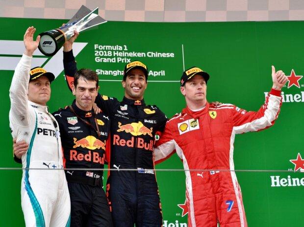 Valtteri Bottas, Daniel Ricciardo, Kimi Räikkönen