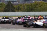 Kevin Magnussen (Haas), Esteban Ocon (Force India) und Sergei Sirotkin (Williams)