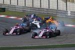 Sergio Perez (Force India), Esteban Ocon (Force India), Sergei Sirotkin (Williams), Stoffel Vandoorne (McLaren) und Brendon Hartley (Toro Rosso)