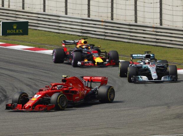 Kimi Räikkönen, Lewis Hamilton, Daniel Ricciardo
