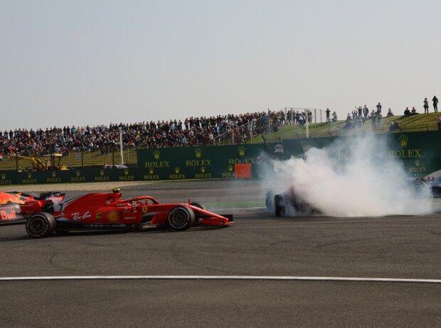 Max Verstappen, Sebastian Vettel, Kimi Räikkönen, Lewis Hamilton