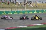 Carlos Sainz (Renault), Romain Grosjean (Haas) und Esteban Ocon (Force India)