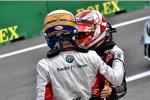 Marcus Ericsson (Sauber) und Kevin Magnussen (Haas)