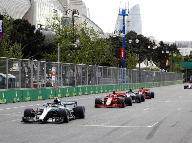 Valtteri Bottas, Sebastian Vettel, Lewis Hamilton, Kimi Räikkönen