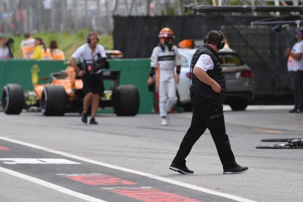 Zak Brown Stoffel Vandoorne McLaren McLaren F1 Team F1 ~Zak Brown und Stoffel Vandoorne (McLaren) ~