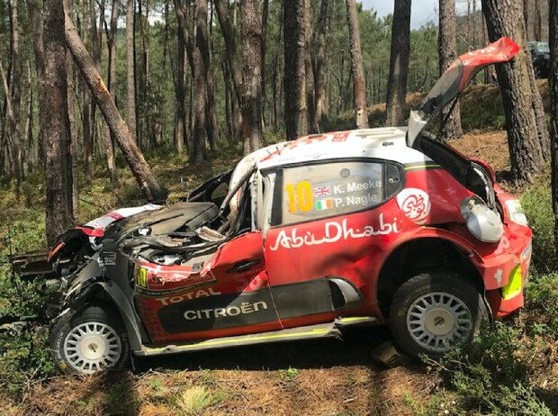 Unfallauto von Kris Meeke, Citroen