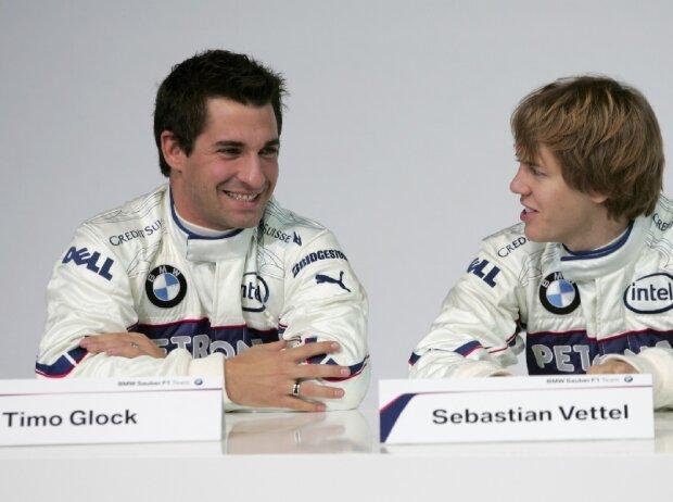 Timo Glock, Sebastian Vettel