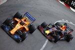 Stoffel Vandoorne (McLaren) und Max Verstappen (Red Bull)