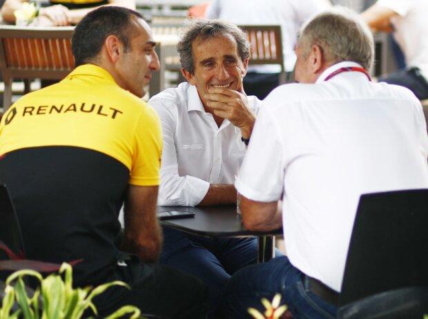 Cyril Abiteboul, Alain Prost. Helmut Marko