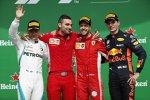 Sebastian Vettel (Ferrari), Valtteri Bottas (Mercedes) und Max Verstappen (Red Bull)
