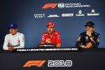 Valtteri Bottas (Mercedes), Sebastian Vettel (Ferrari) und Max Verstappen (Red Bull)
