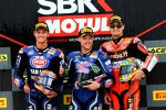Michael van der Mark, Alex Lowes und Chaz Davies