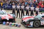 Mike Conway (Toyota), Kamui Kobayashi (Toyota), Kazuki Nakajima (Toyota) und Fernando Alonso (Toyota)