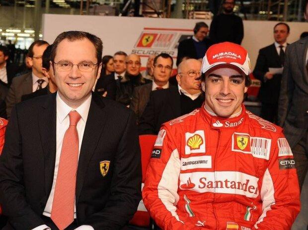 Felipe Massa, Fernando Alonso, Stefano Domenicali