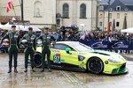 Alex Lynn (Aston Martin), Maxime Martin (Aston Martin) und Jonathan Adam (Aston Martin)