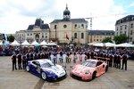 Gianmaria Bruni (Porsche), Frederic Makowiecki (Porsche), Michael Christensen (Porsche), Kevin Estre (Porsche) und Laurens Vanthoor (Porsche)